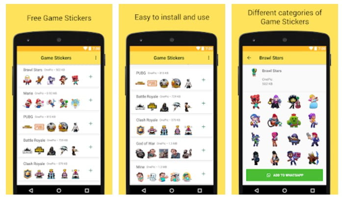 Download Game Stickers For Whatsapp